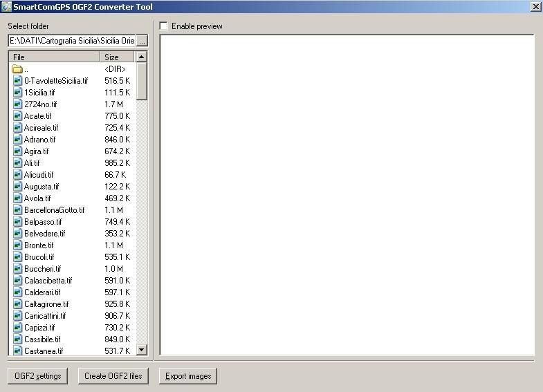 Schermata di Smartcome OGF2 Converter