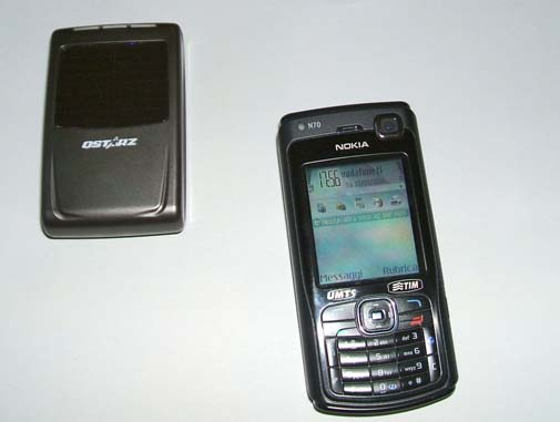 Smartphone Nokia N70 e GPS Qstarz