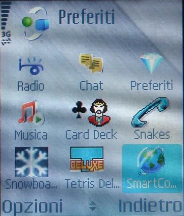 Schermata di selezione software del Nokia N70