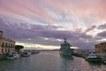 Il porticciolo di Siracusa al tramonto