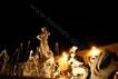 Particolare della Fontana di Diana di notte