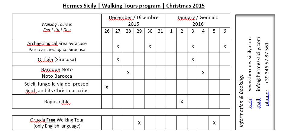 Programma visite guidate natalizie