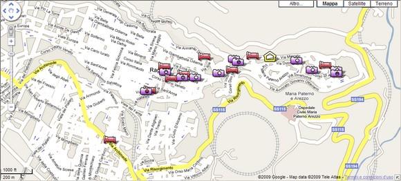 Hotel a Ragusa - Mappa interattiva