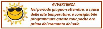 Pantalica, avviso temperature elevate