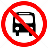 Non accessibile con bus