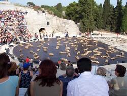 Rappresentazioni classiche al teatro greco di Siracusa (foto: © D.Mauro)