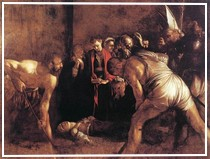 """Dettaglio del """"Seppellimento di Santa Lucia"""" del Caravaggio"""